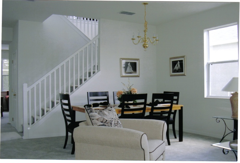 captivating stair living room dining | Three Nations Villa Picture Gallery